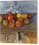 Cezanne: Apples & Biscuits Wood Print