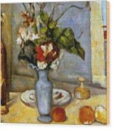 Cezanne: Blue Vase, 1885-87 Wood Print