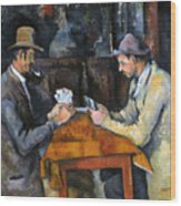 Cezanne: Card Player, C1892 Wood Print