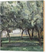 Cezanne: Le Clos Normand Wood Print