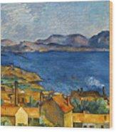 Cezanne Marseilles 1886-90 Wood Print