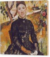 Cezanne: Mme Cezanne, 1890 Wood Print