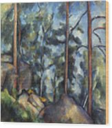 Cezanne: Pines, 1896-99 Wood Print