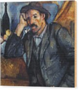 Cezanne: Pipe Smoker, 1900 Wood Print