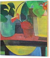Cezanne Potting Stand Wood Print by Betty Pieper