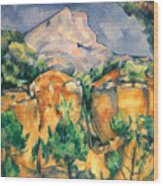 Cezanne: Sainte-victoire Wood Print