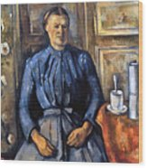 Cezanne: Woman, 1890-95 Wood Print
