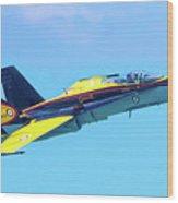Cf-18 Hornet Wood Print