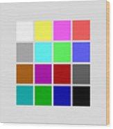 Cga Colors Wood Print