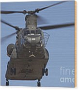 Ch-47 Chinook Flies Over Playas Wood Print