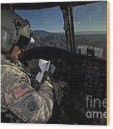 Ch-47 Chinook Pilot Refers Wood Print