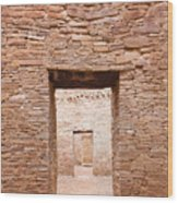 Chaco Canyon Doorways 1 Wood Print
