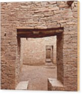Chaco Canyon Doorways 2 Wood Print