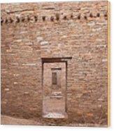 Chaco Canyon Doorways 5 Wood Print