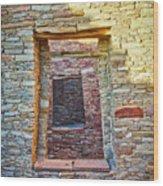 Chaco Canyon Windows Wood Print