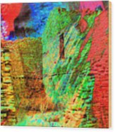 Chaco Culture Abstract Wood Print