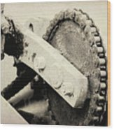 Chain And Gear Wood Print