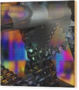 Chain And Sprockets - Amcg -  Macro 13 30 X 20 Wood Print