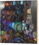 Chain And Sprockets - Amcg -  Macro 14 30 X 20 Wood Print