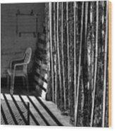 Chain Barrier Wood Print