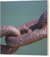 Chain Chain Chain Wood Print