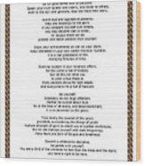 Chain Link Desiderata Poem Wood Print