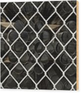 Chain Link Pipe Wood Print