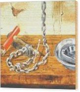 Chain Smoking Wood Print
