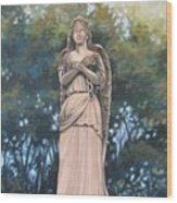 Chained Angel Wood Print