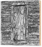Chained Shut Wood Print