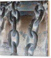 Chains - Nagative Wood Print