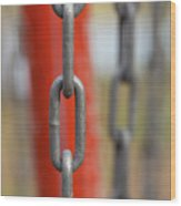 Chains Abstract 3 Wood Print
