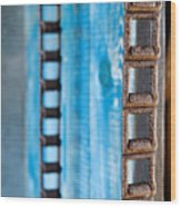 Chains And Blue Wood Wood Print