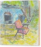 Chair, 27 September, 2015 Wood Print