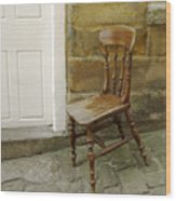 Chair And The Door Wood Print