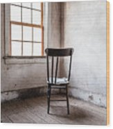 Chair By The Window Grafton Ghost Town Wood Print