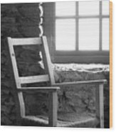 Chair By Window - Ireland Wood Print