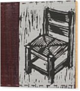 Chair I Wood Print by Peter Allan