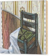 Chair Iv Wood Print by Peter Allan