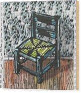 Chair Ix Wood Print by Peter Allan