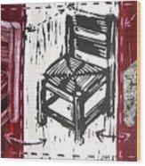 Chair V Wood Print