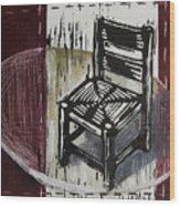Chair Vi Wood Print by Peter Allan
