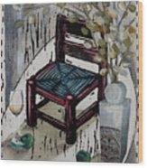 Chair X Wood Print by Peter Allan