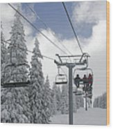 Chairlift At Vail Resort - Colorado Wood Print