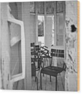 Chairs And Doors  Wood Print
