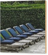 Chairs Of The Deck Wood Print