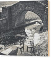 Chairs - Stone Bridge Wood Print