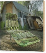 Chaise Lounge Wood Print