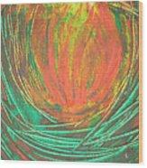 Chakra Protea Wood Print