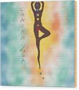 Chakra Yoga Art By Valentina Miletic Wood Print